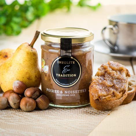 Confiture de poire William & noisette
